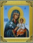 Рукописная икона Неувядаемый Цвет резьба 14