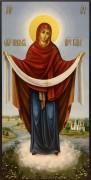 Рукописная икона Покров Богородицы 3