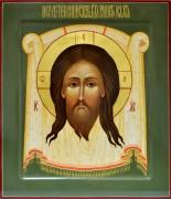 Рукописная икона Спас Нерукотворный 4