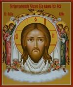 Рукописная икона Спас Нерукотворный 5