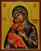 Рукописная икона Владимирская 3