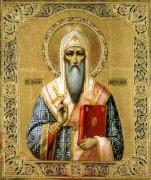 Рукописная икона Святой Алексий Московский