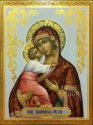 Рукописная икона Божией Матери Владимирская