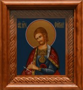 Рукописная икона Фотий Никомидийский