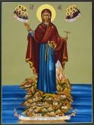 Рукописная икона Игуменья горы Афонской 2