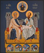 Рукописная икона Петр и Павел 2