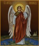 Рукописная икона Архангел Михаил 3