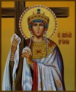 Рукописная икона царица Елена 3