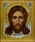 Рукописная икона Спас Нерукотворный 6