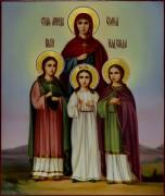 Рукописная икона Вера Надежда Любовь масло 6