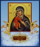 Рукописная икона Феодоровская с Ангелами