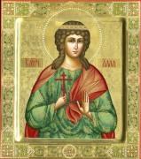 Рукописная икона Святая Алла Готфская