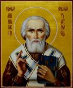Рукописная икона Николай Чудотворец масло 2