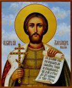 Рукописная икона Александр Невский 5