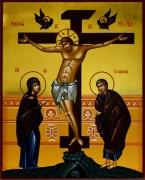 Рукописная икона Распятие Господне