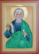Рукописная икона Святой Апостол Анания