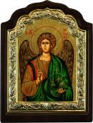Греческая икона Архангел Михаил арочная