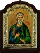 Греческая икона Апостол Андрей Первозванный арочная
