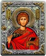 Греческая икона Пантелеймон Целитель и Чудотворец