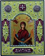Греческая икона Покров с эмалью