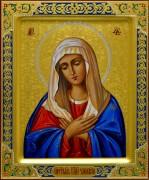 Рукописная икона Умиление Пресвятой Богородицы 3 (Размер 17*21 см)