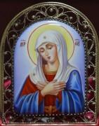 Икона из финифти Умиление Пресвятой Богородицы