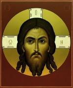 Рукописная икона Спас Нерукотворный 7