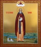 Рукописная икона Александр Свирский 2