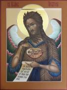 Рукописная икона Иоанн Креститель 5
