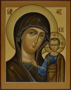 Рукописная икона Казанская под старину 11