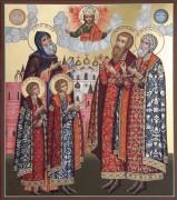 Рукописная икона Ярославские князья
