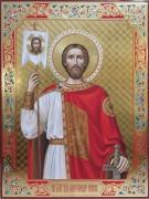 Рукописная икона Александр Невский 8