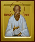 Рукописная икона Феодор Томский