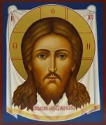 Рукописная икона Спас Нерукотворный 9