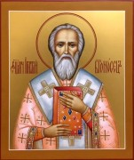 Рукописная икона Игнатий Богоносец 2