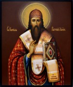 Рукописная икона Кирилл Александрийский 2