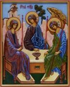 Резная икона Святая Троица 4