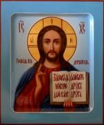 Рукописная икона Спас Вседержитель масло 19