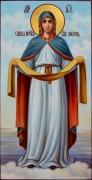Рукописная икона Покров Богородицы масло 3