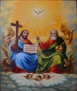Рукописная икона Новозаветная Троица масло