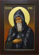 Рукописная икона Серафим Вырицкий 2
