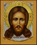 Рукописная икона Спас Нерукотворный 11