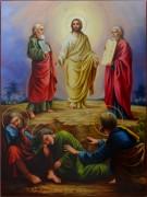 Рукописная икона Преображение Господне масло