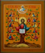 Рукописная икона Лоза Истинная под старину 2