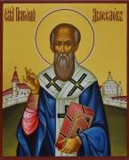 Рукописная икона Григорий Двоеслов