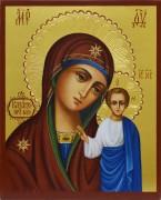 Рукописная икона Казанская с резьбой 16