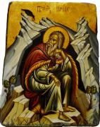 Греческая рукописная икона Илия Пророк