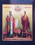 Рукописная икона Святой Андрей Критский и Мария Египетский