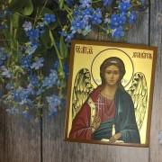 Рукописная икона Ангел Хранитель 27