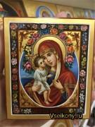 Рукописная икона Жировицкая масло